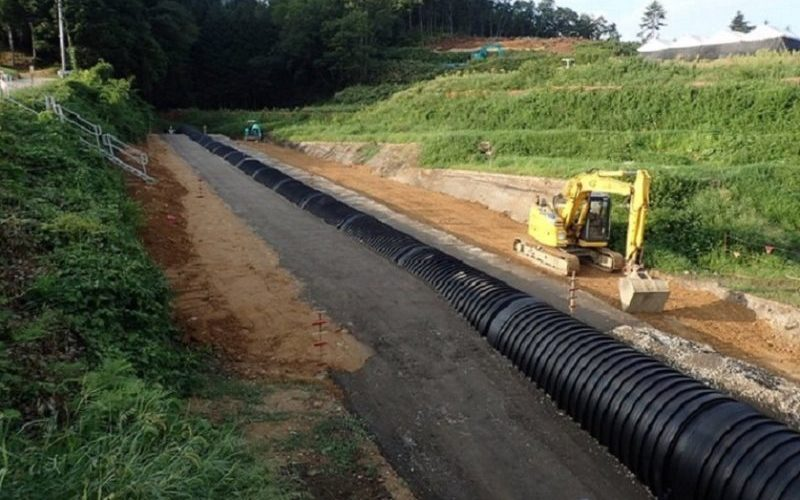 中部縦貫上切地区道路建設工事