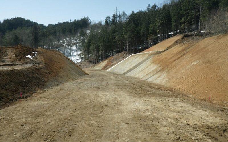 中部縦貫上野地区道路建設工事