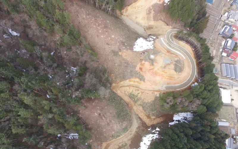 中部縦貫中切西地区道路建設工事