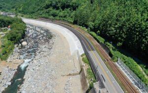 令和2年度41号門坂南地区道路改良工事が完成しました
